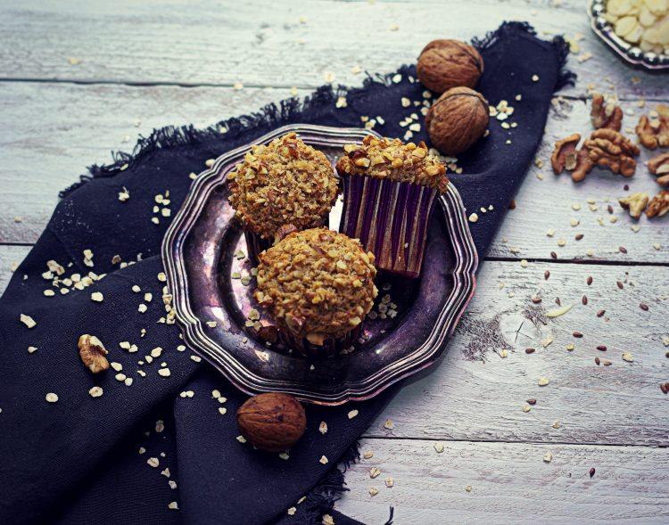 Ovseno – mandľové muffiny bez mlieka